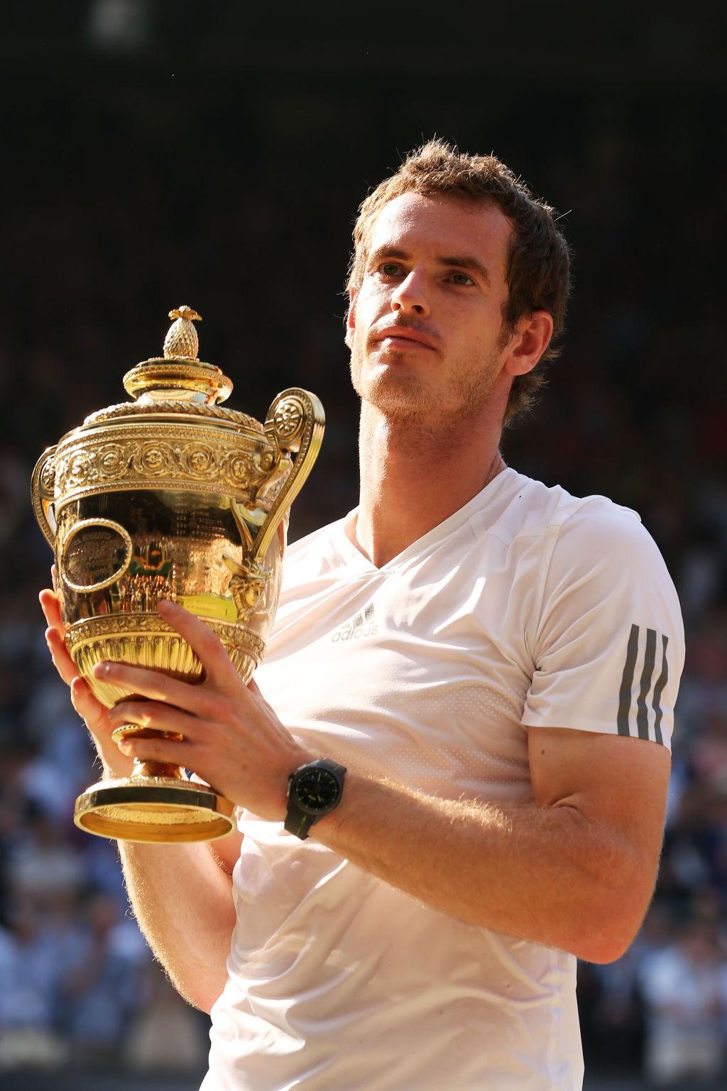 Andy Murray nach seinem Wimbledon-Erfolg 2013.