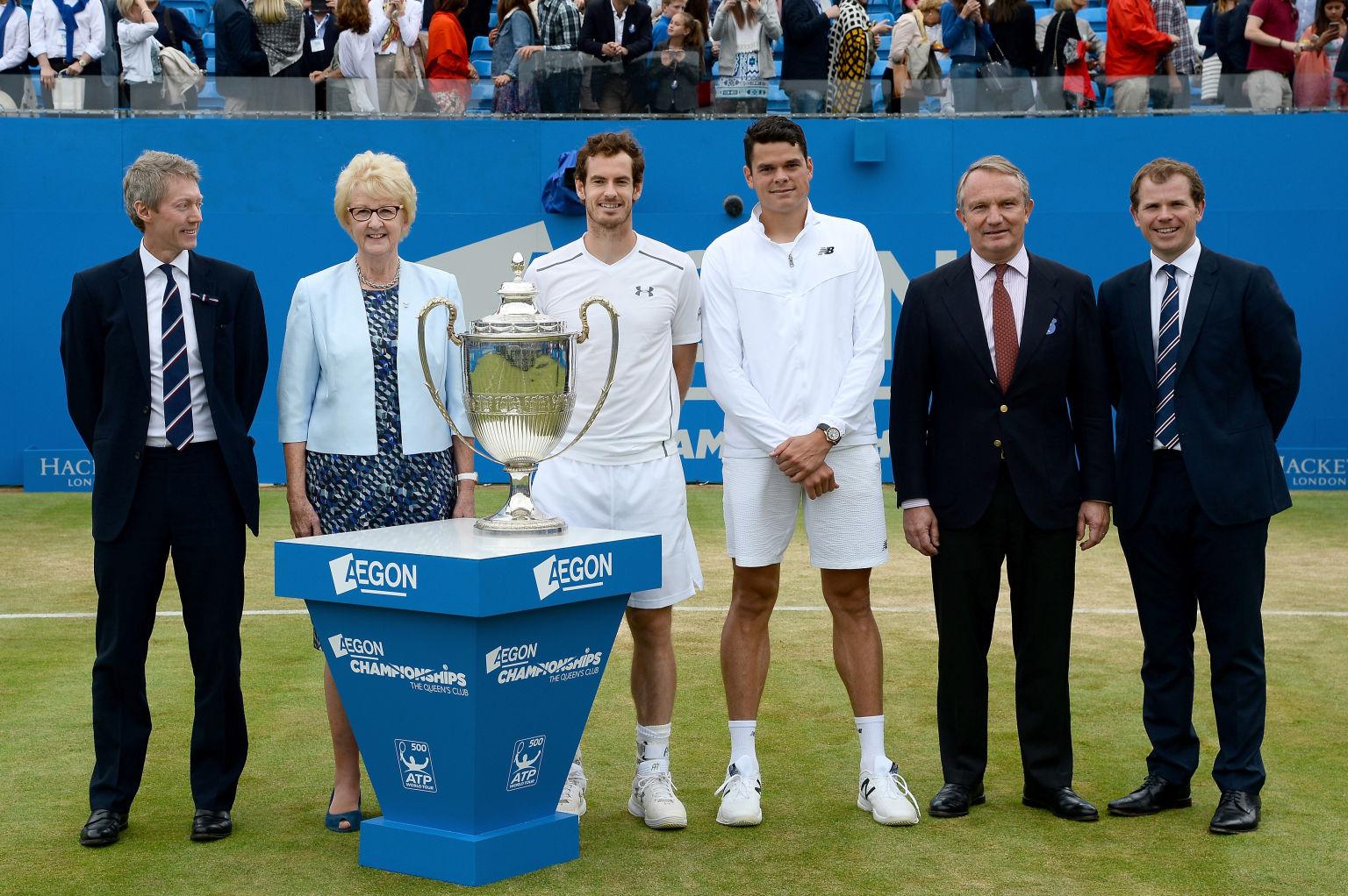 Milos Raonic nach dem verlorenen Finale von Queen´s gegen Andy Murray