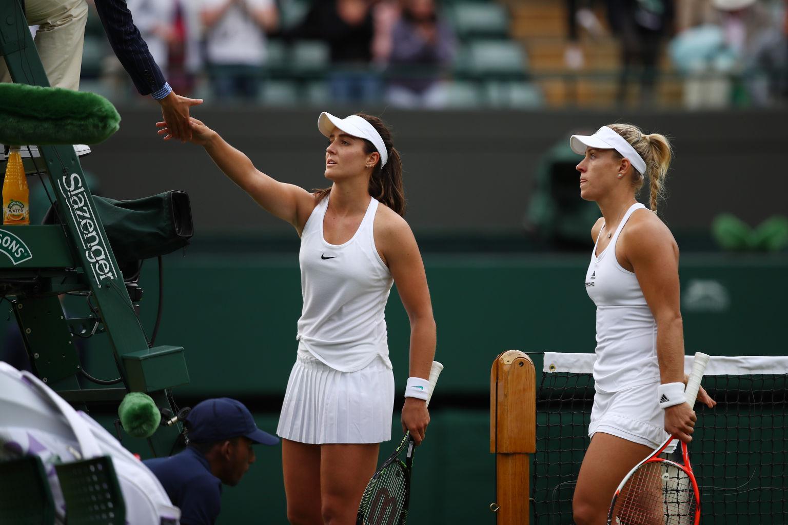 Revanche: Kerber schlug Laura Robson zum Auftakt deutlich.