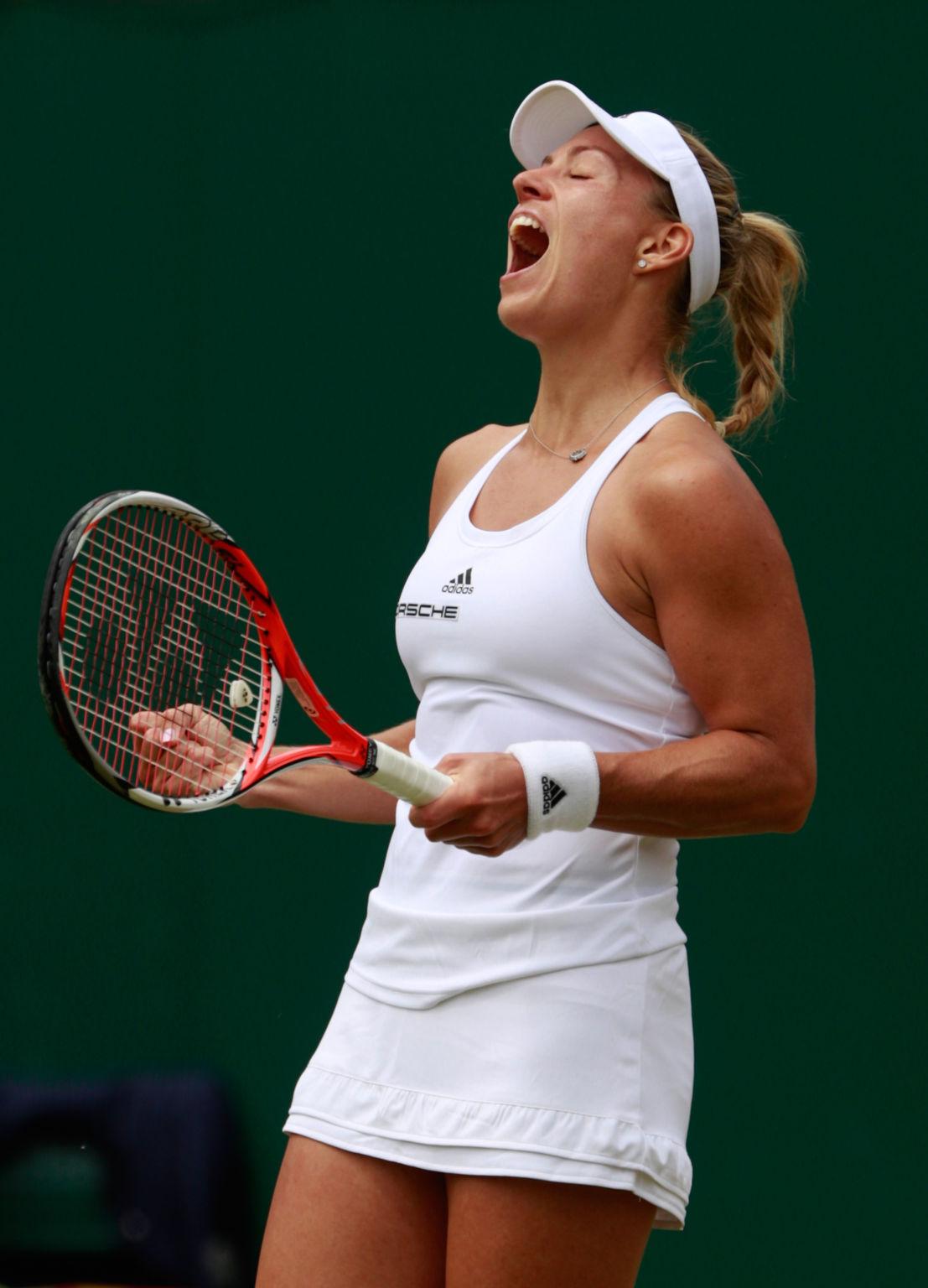 Angelique Kerber steht nach dem souveränen Achtelfinalerfolg gegen die Japanerin Misaki Doi zum dritten Mal im Viertelfinale von Wimbledon. Dort trifft sie auf die Siegerin der Partie Simona Halep gegen Madison Keys.