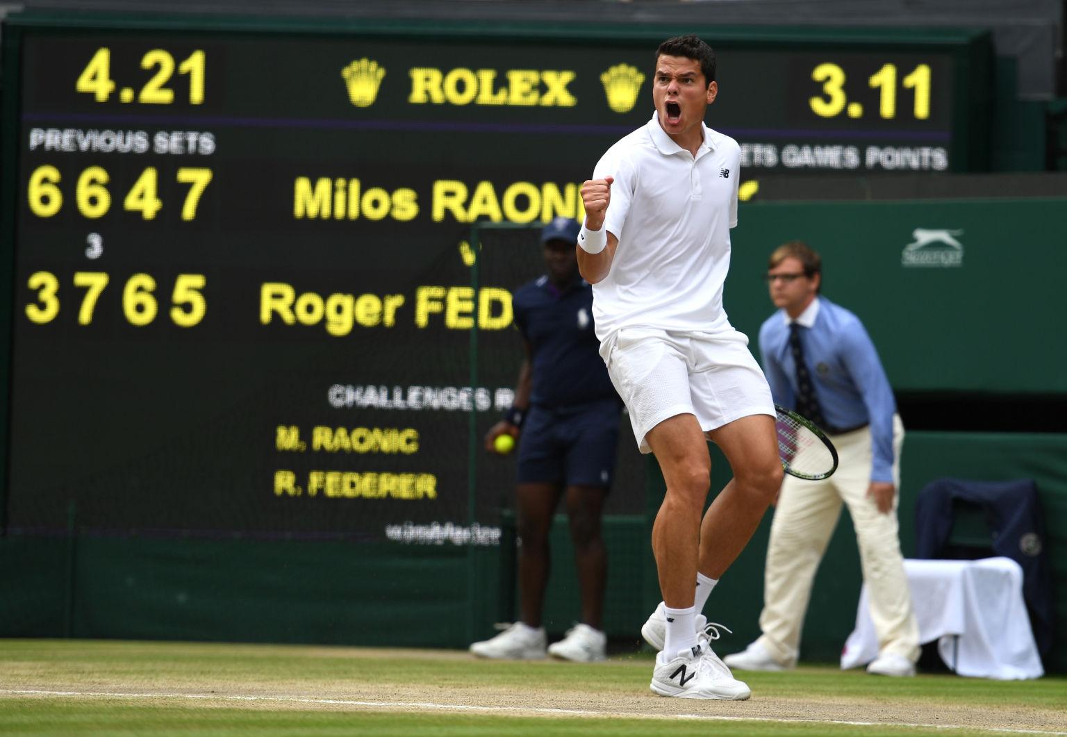 Game, Set and Match – Raonic. Der xx-Jährige steht zum ersten Mal in einem Grand Slam-Finale.