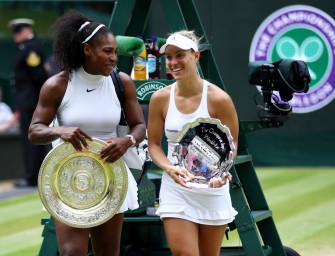 tennis MAGAZIN live bei Kerber vs. Williams auf dem Center Court