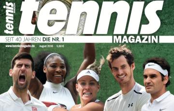 tennis MAGAZIN 8/2016: Das spektakulärste Wimbledon-Turnier der letzten Jahre