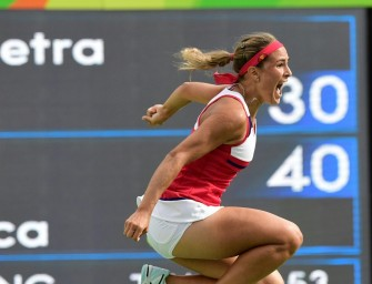 Monica Puig aus Puerto Rico steht im Finale von Rio