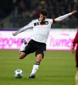 """Der """"Capitano"""": Michael Ballack im Trikot der deutschen Fußball-Nationalmannschaft"""