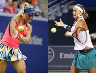 Match des Tages am Sonntag: Kerber vs. Kvitova
