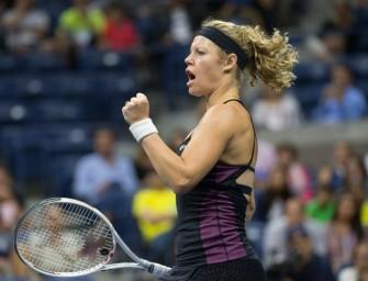 Laura Siegemund im Mixedfinale der US Open