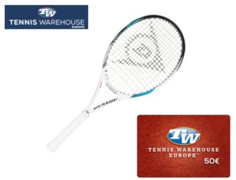 Dunlop-Racket + 50€-Gutschein