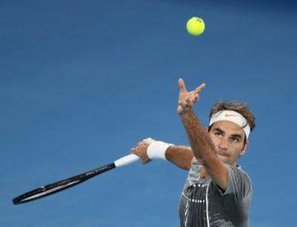 """Melbourne: Federer gewinnt """"Senioren-Duell"""" der 35-Jährigen"""
