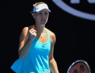 Angelique Kerber im Achtelfinale: Klarer Erfolg gegen Kristyna Pliskova