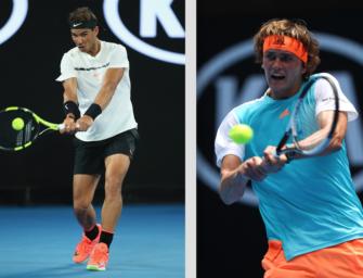 Match des Tages: Alexander Zverev gegen Rafael Nadal bei den Australian Open
