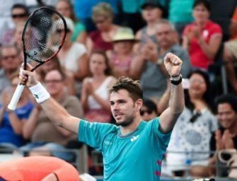 Melbourne: Wawrinka nach Dreisatzsieg im Viertelfinale
