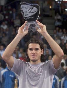 Haas bei seinem Turniersieg 2001 in Stuttgart.