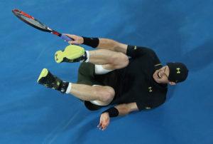 Andy Murray hatte im spiel gegen den Russen Rublev Probleme mit seinem Knöchel.