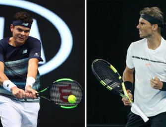 Raonic gegen Nadal – Das Match des Tages am Mittwoch