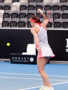 """Andrea Petkovic unterlag in Hobart """"Lucky loser"""" Veronica Cepede Royg (WTA 129) in drei Sätzen (c) Molter"""