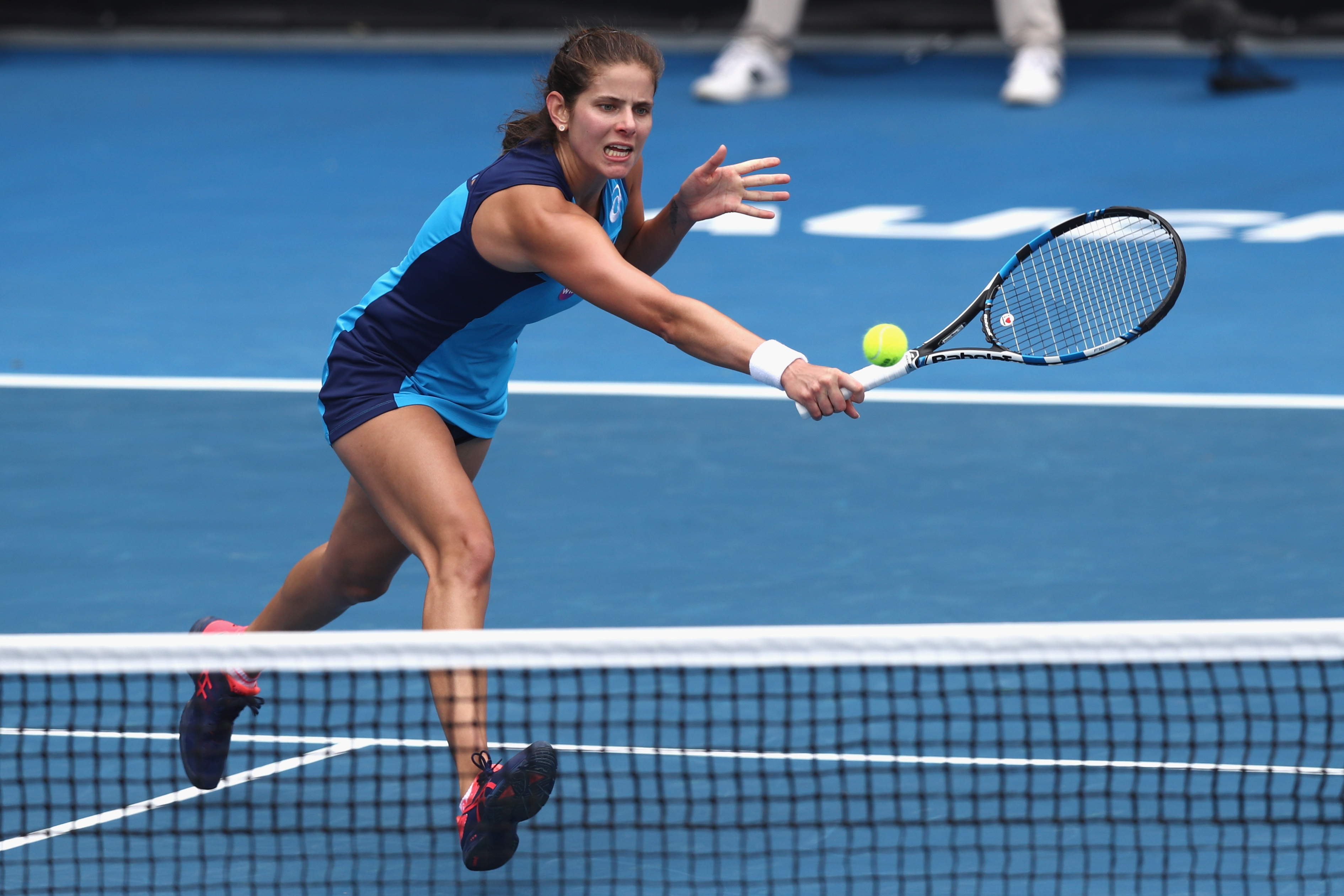 Julia Görges könnte im Halbfinale auf die topgesetzte Timea Babos treffen.