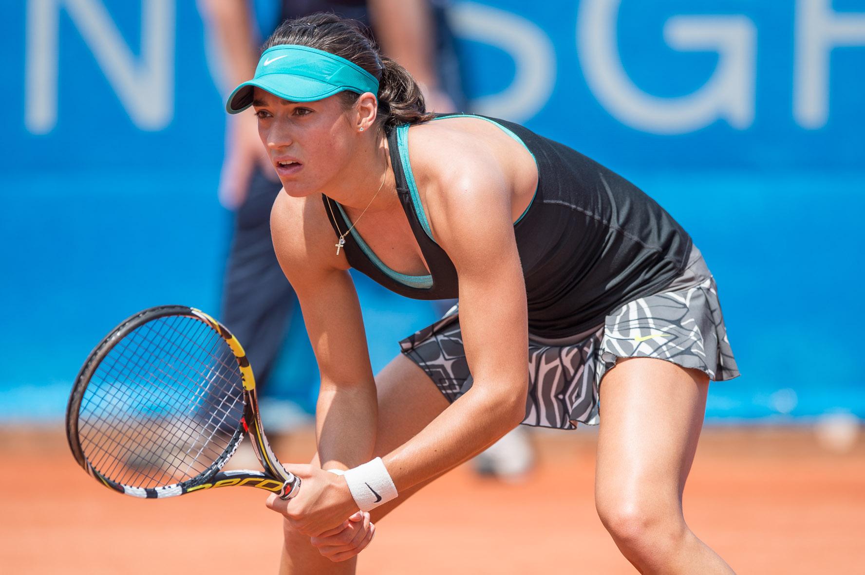 Caroline Garcia hat Irina Begu im dritten Satz beim Stand von 5:5 beleidigt.