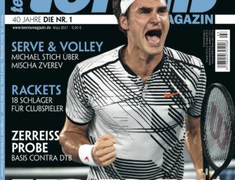 tennis MAGAZIN 3/2017 – Federer! Grand Slam-Sieg für die Ewigkeit