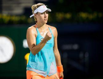 Tennis: Kerber zieht mühelos ins Viertelfinale von Miami ein