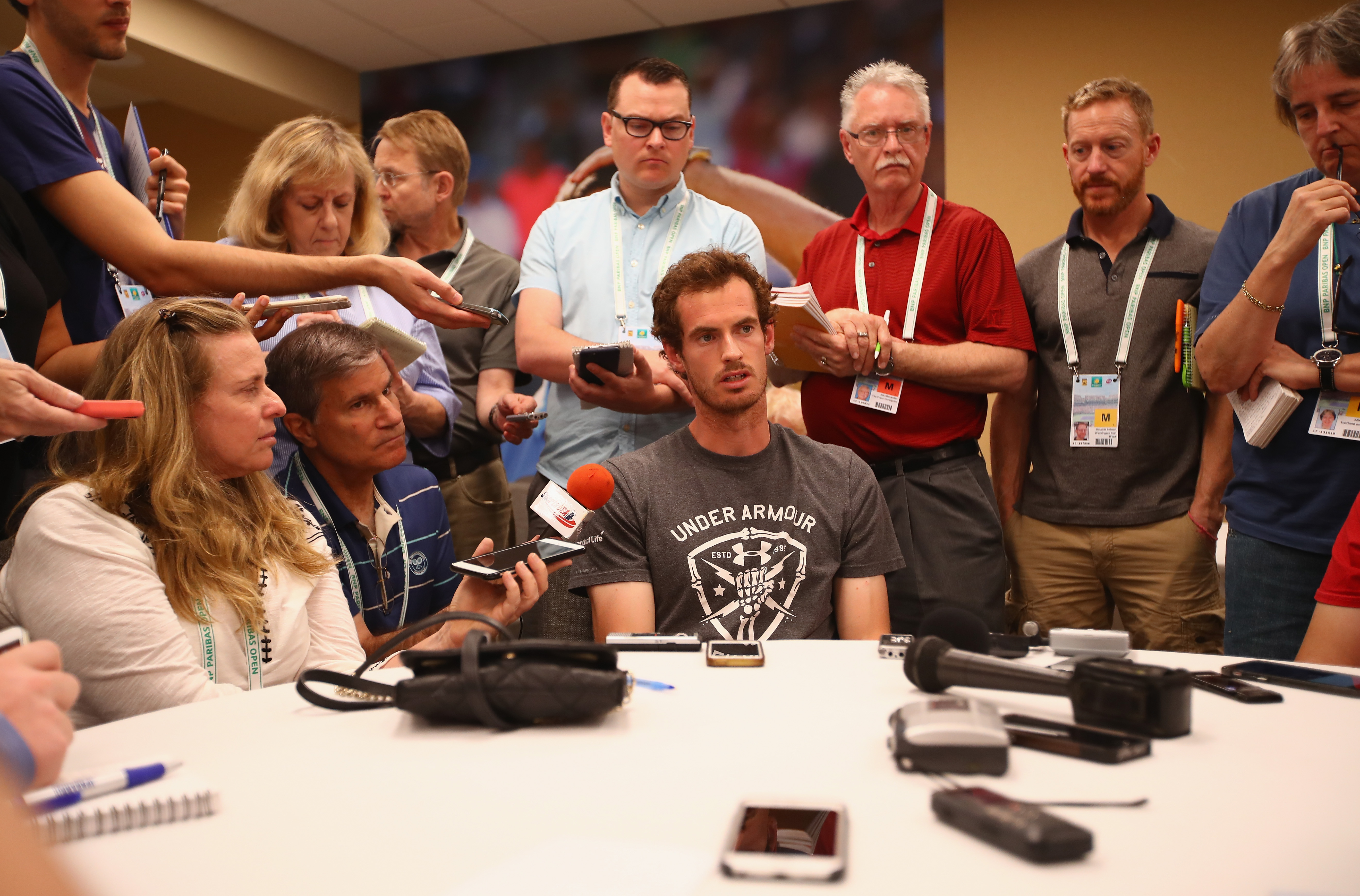 """Andy Murray konnte die Fragen nach der Auslosung für Indian Wells locker beantworten. Er ist als topgesetzter Spieler der """"Todesgruppe"""" entkommen."""