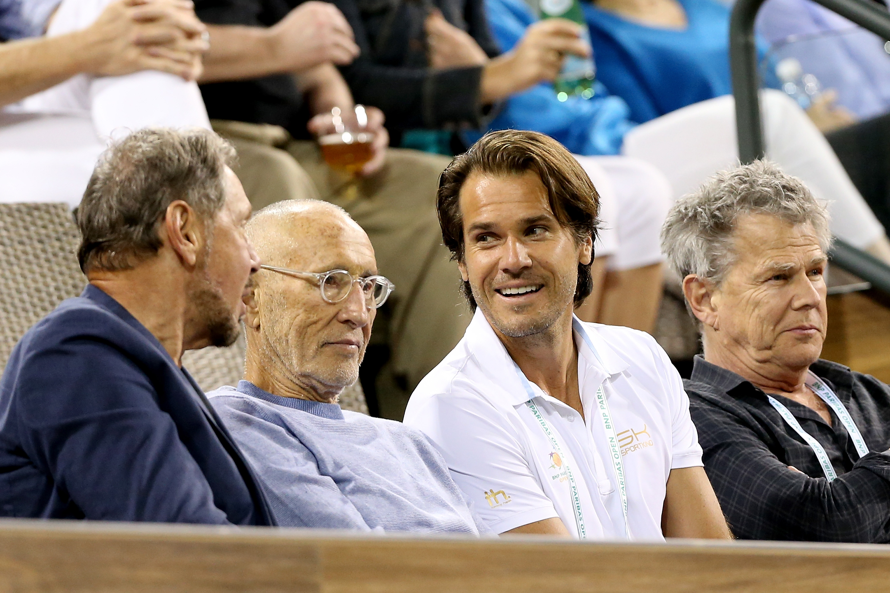 Tommy Haas (2.v.re.) gibt in Indian Wells seine Premiere als Turnierdirektor.