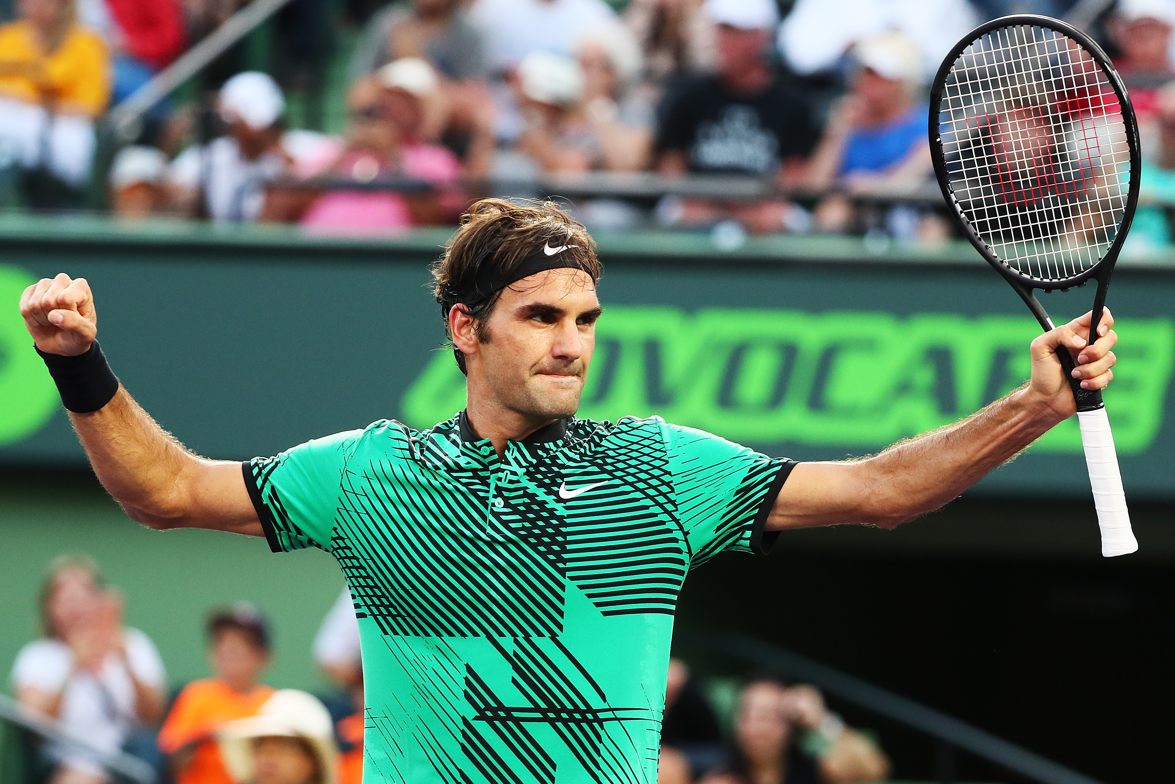 Roger Federer hatte gegen den Spanier Roberto Bautista Agut viel Mühe. Zweimal musste der Schweizer in den Tiebreak.