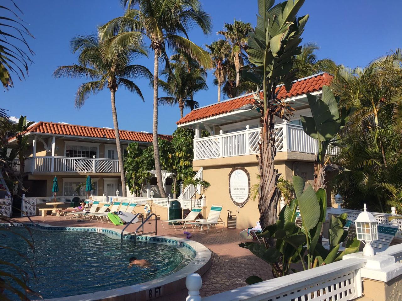 Feine Adresse und unsere Heimat für zwei Tage – das Tortuga Beach Resort auf Anna Maria Island.