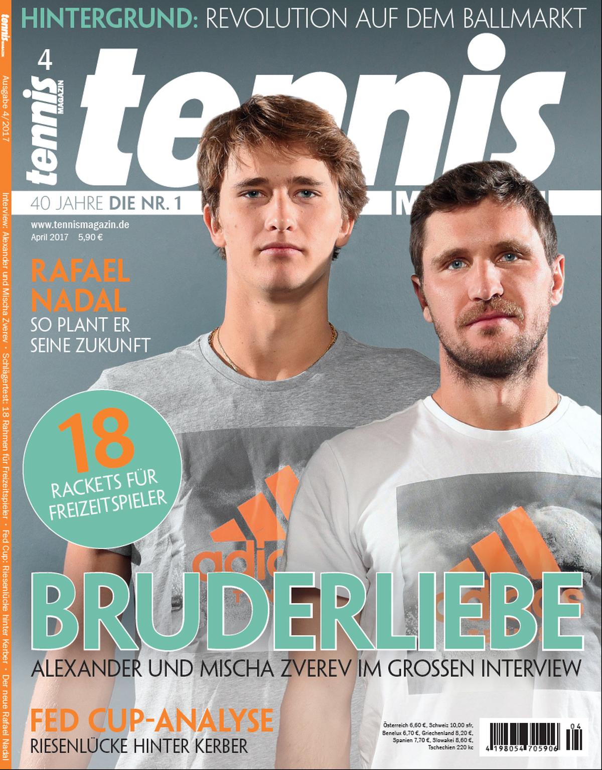 tennis MAGAZIN 4/2017 Alexander und Mischa Zverev im Interview