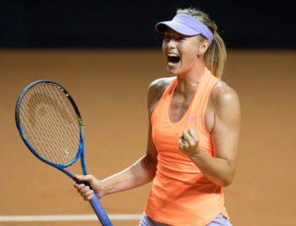 Nach Comeback: Sharapova setzt Siegeszug fort