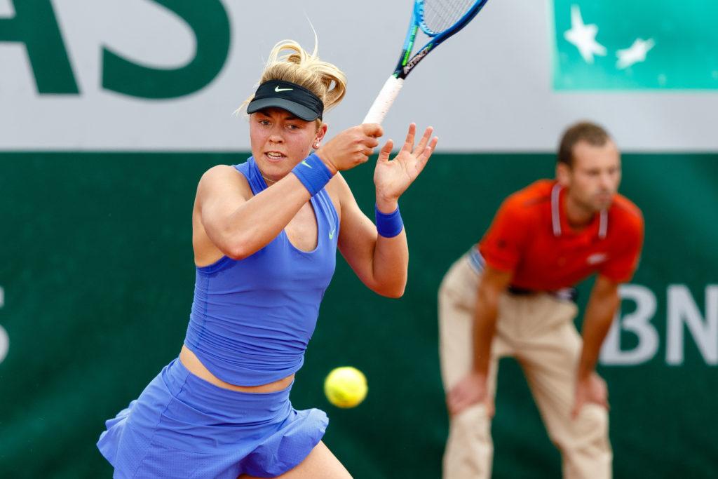 Die Hamburgerin Carina Witthoeft zog bei den French Open 2017 in Paris in die zweite Runde ein / Tennis / Sport / French Open / Paris / Frankreich / Tageslicht / Tennisspieler / Aktion / Grand Slam / Major / Bois de Boulogne / Roland Garros / WTA / ITF / ATP /