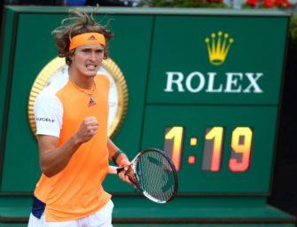 Zverev im Halbfinale von Rom –jetzt gegen Isner