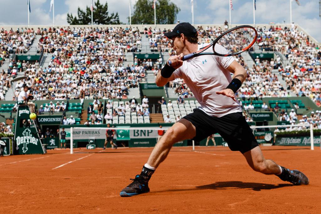 Andy Murray während der Tennis French Open 2017 in Paris / Tennis / Sport / French Open / Paris / Frankreich / Tageslicht / Tennisspieler / Aktion / Grand Slam / Major / Bois de Boulogne / Roland Garros / WTA / ITF / ATP / Menschen / Herren / Männer / Einzelveranstaltung / Erwachsene Person / Fotografie
