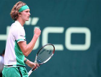 Zverev kämpft sich ins Halbfinale – Federer lässt Mayer keine Chance