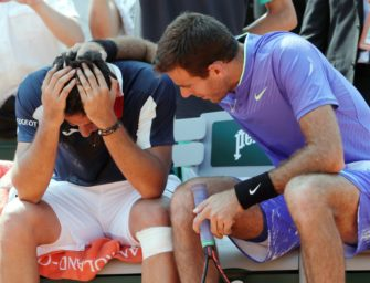 French Open: Del Potro tröstet weinenden Almagro
