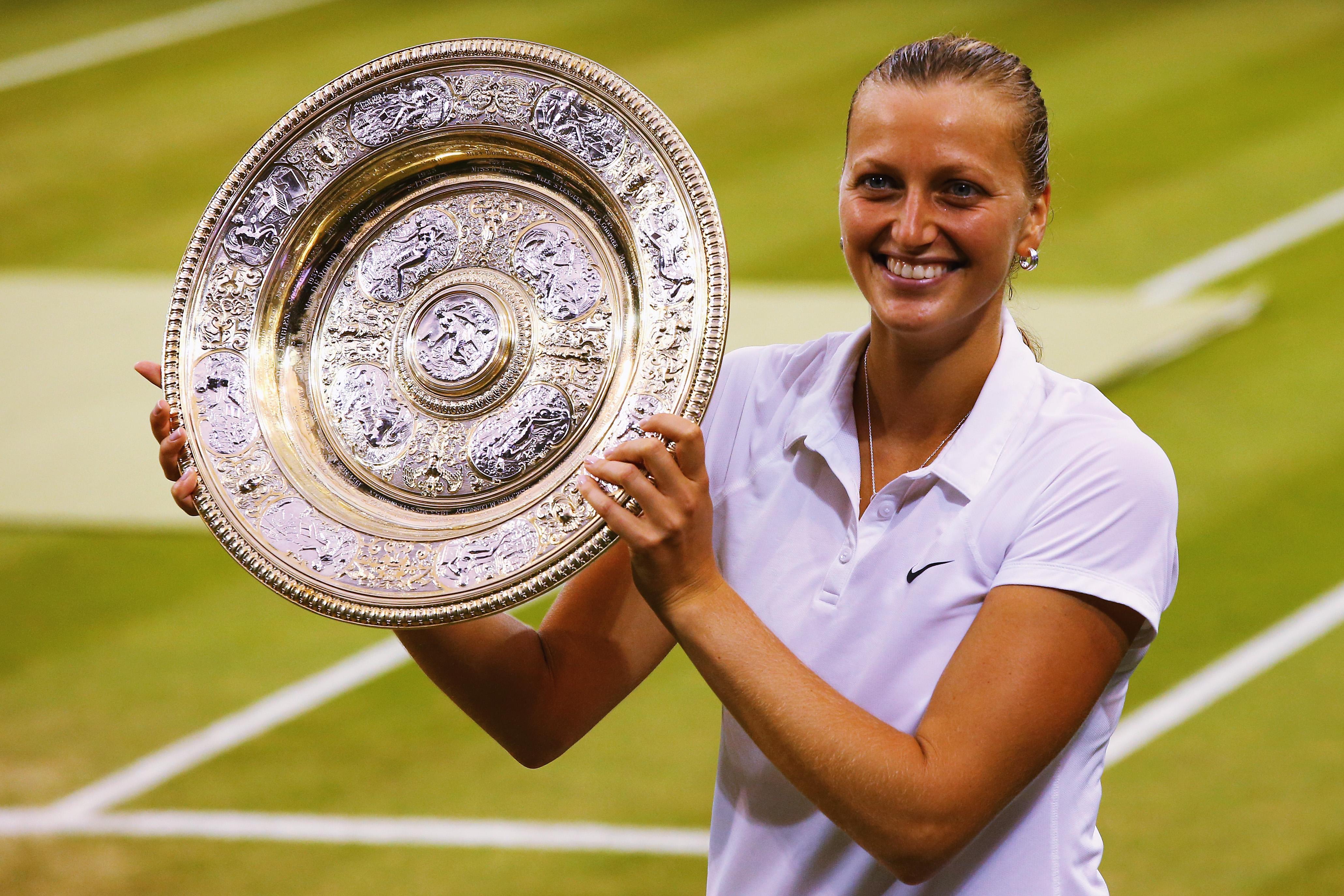 Petra Kvitova zählt zu den Favoritinnen in Wimbledon. Die Tschechin konnte das Turnier bereits 2011 und 2014 (Foto) gewinnen.