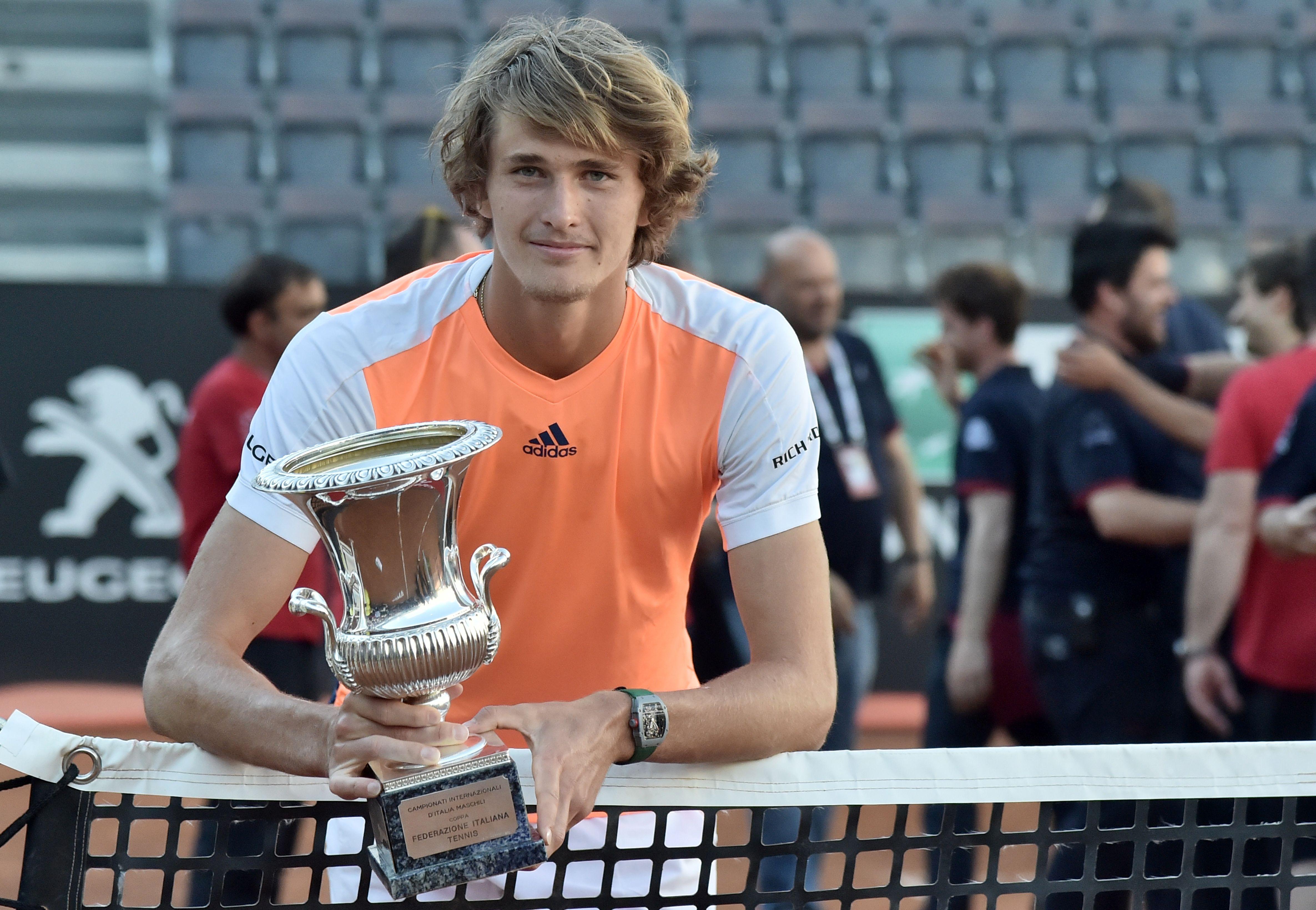 Größter Erfolg: Mit dem Turniersieg von Rom konnte Alexander Zverev seinen ersten ATP 1000-Titel gewinnen.