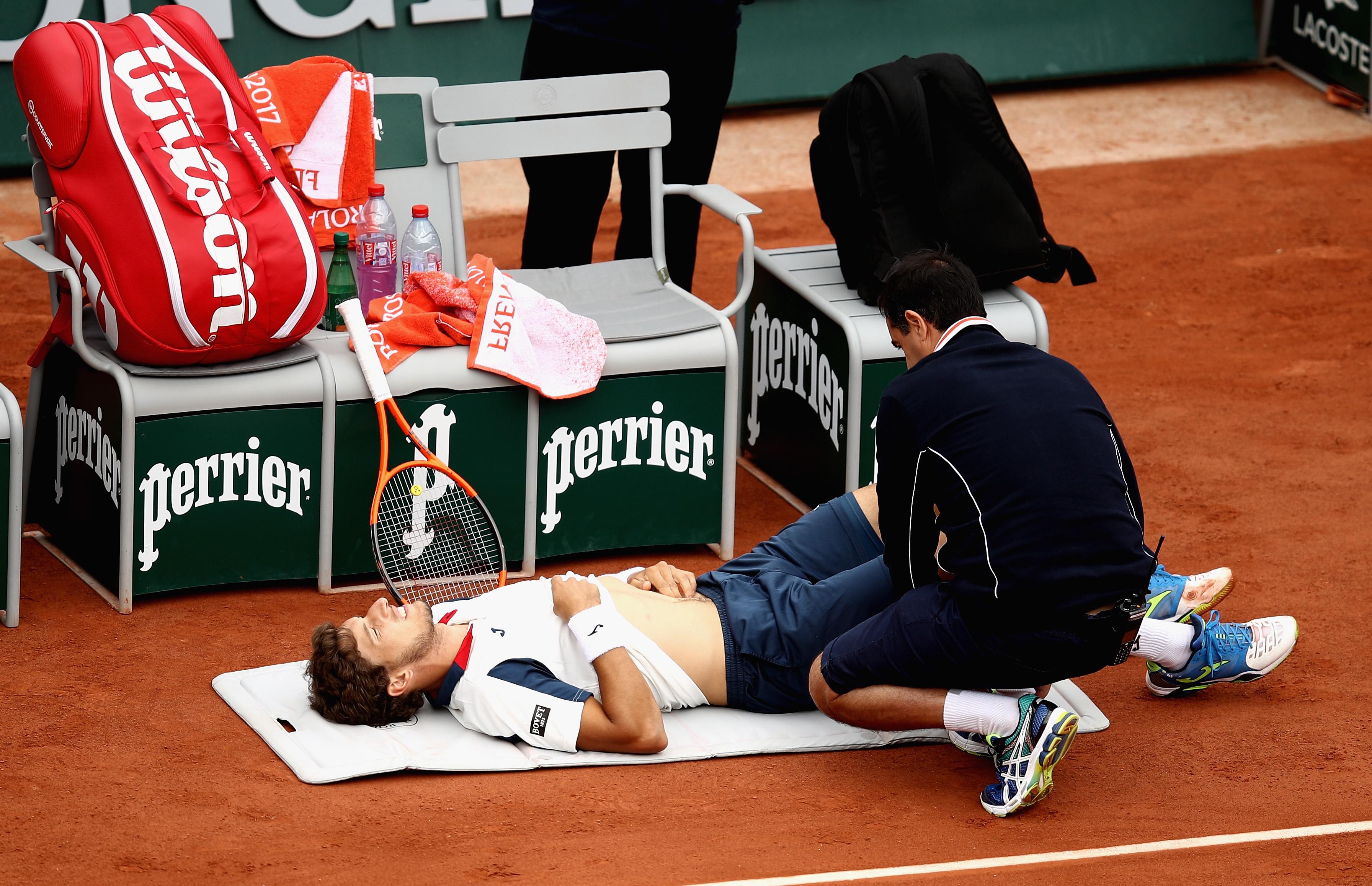 Im Viertelfinale musste Pablo Carreno Busta das Match im im zweiten Satz aufgrund einer Verletzung abbrechen.