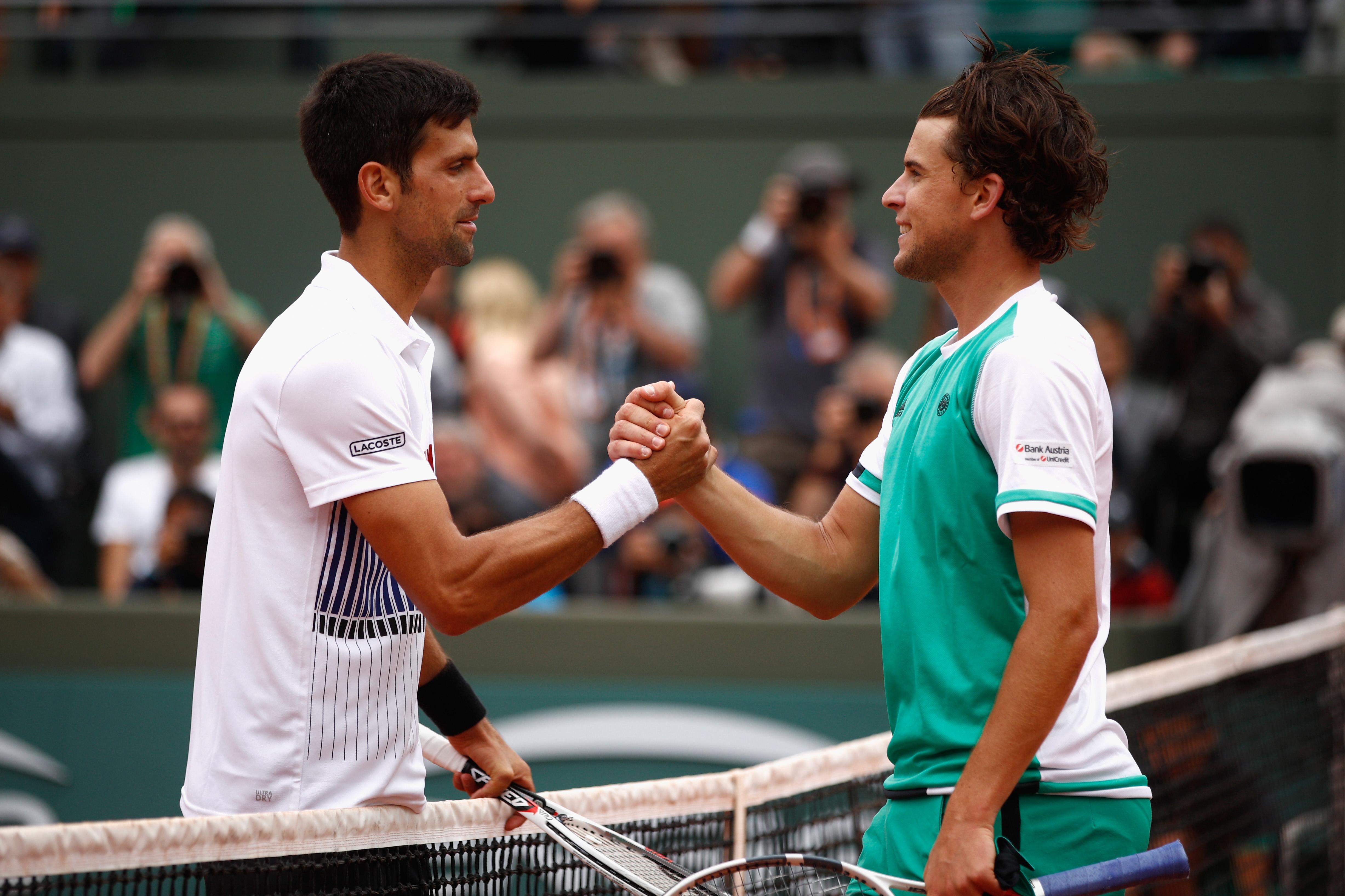 Premiere: Zum ersten Mal in seiner Karriere konnte Dominic Thiem gegen Rafael Nadal gewinnen.