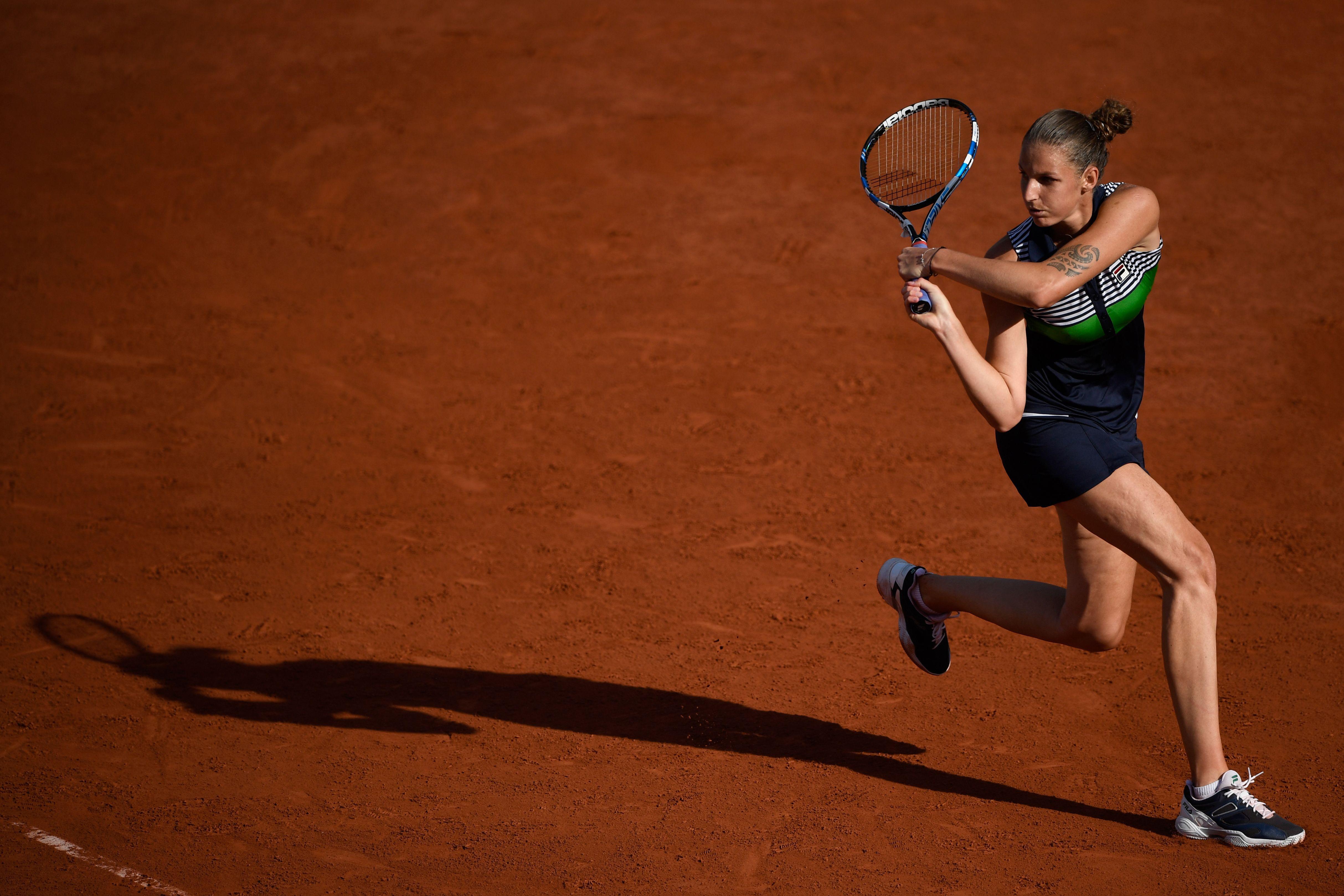 Karolina Pliskova wehrte sich gegen Simona Halep, doch die Rumänin kämpfte die Tschechin nieder.