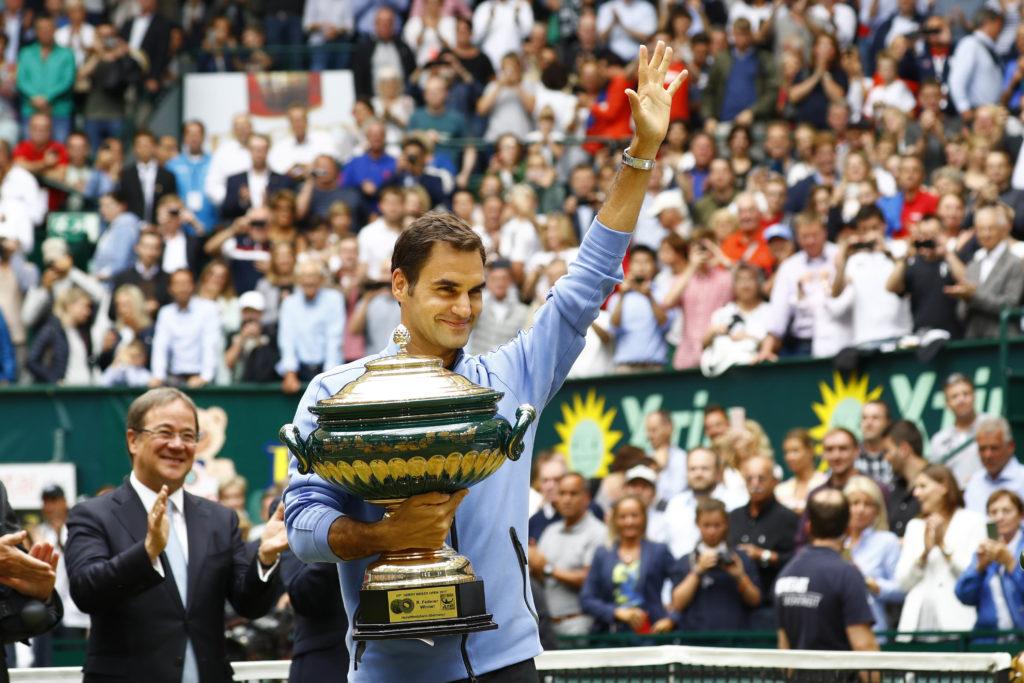 Rechtzeitig in Form: Roger Federer gewann vor wenigen Tagen das Rasenevent in Halle/Westfalen.