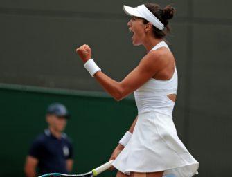 Kerber-Bezwingerin Muguruza im Halbfinale von Wimbledon
