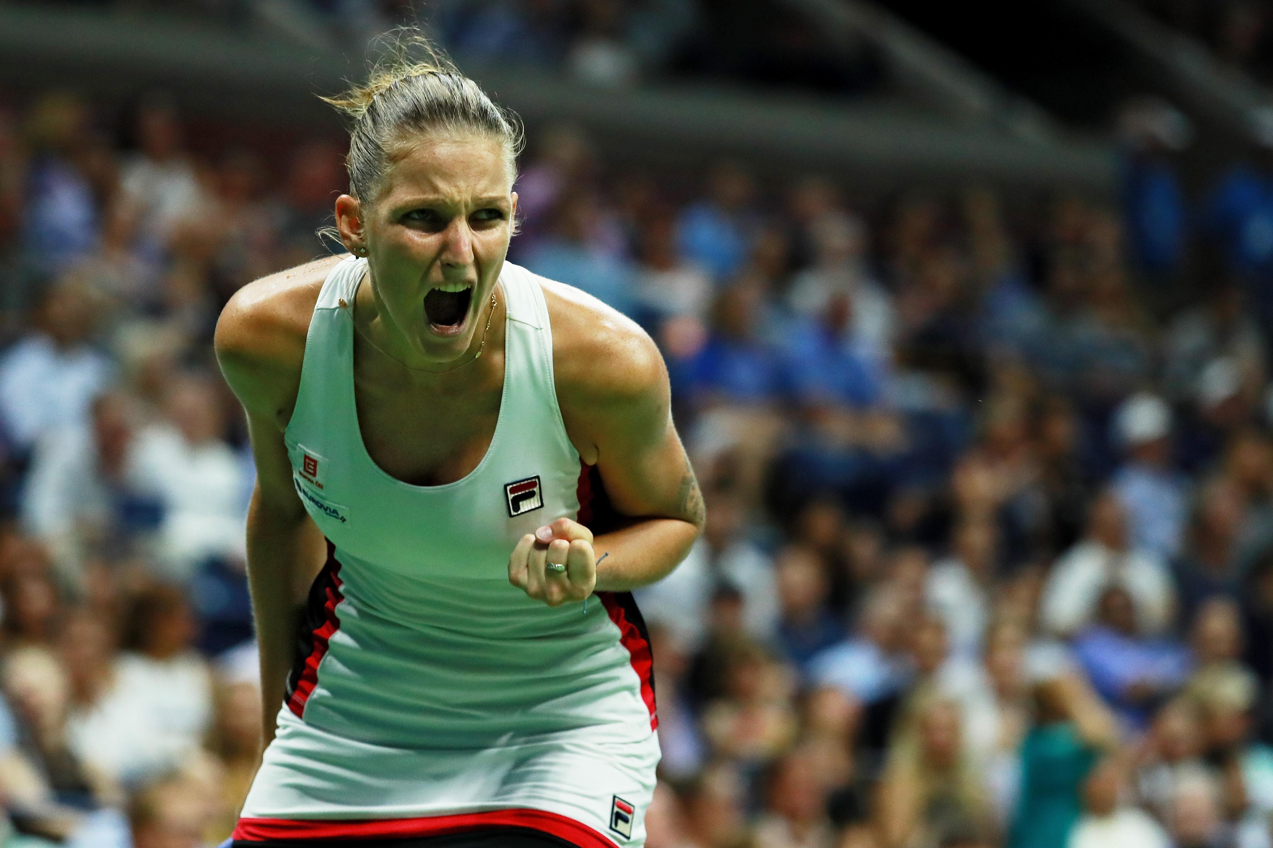 Selten emotional: Karolina Pliskova verzieht in Matches oft keine Miene. Sie ist aber davon überzeugt, dass sie besser spielt, wenn mal Emotionen aus ihr herausplatzen.