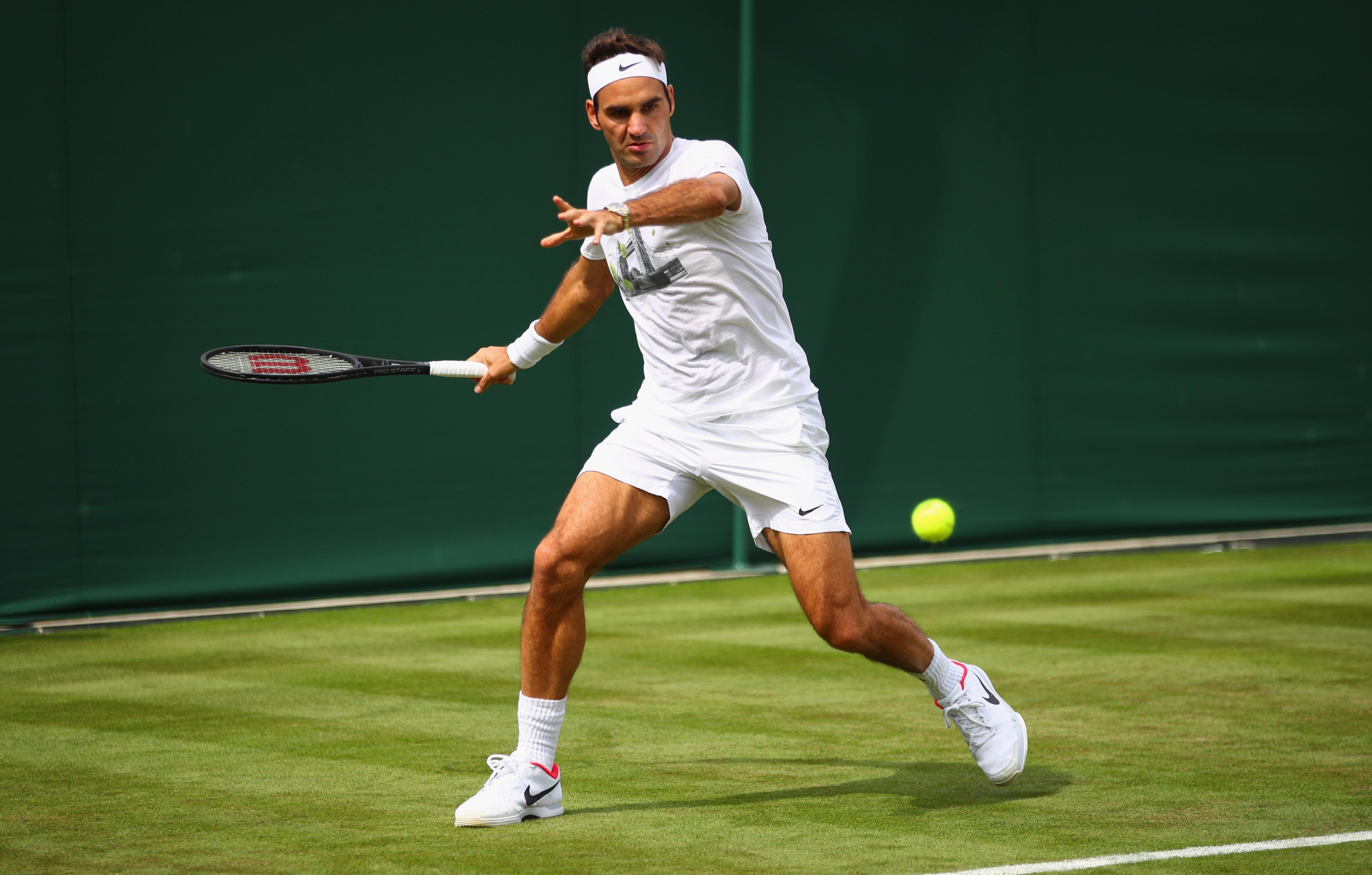 Roger Federer möchte sich in diesem Jahr in Wimbledon zum alleinigen Rekordtitelträger küren.