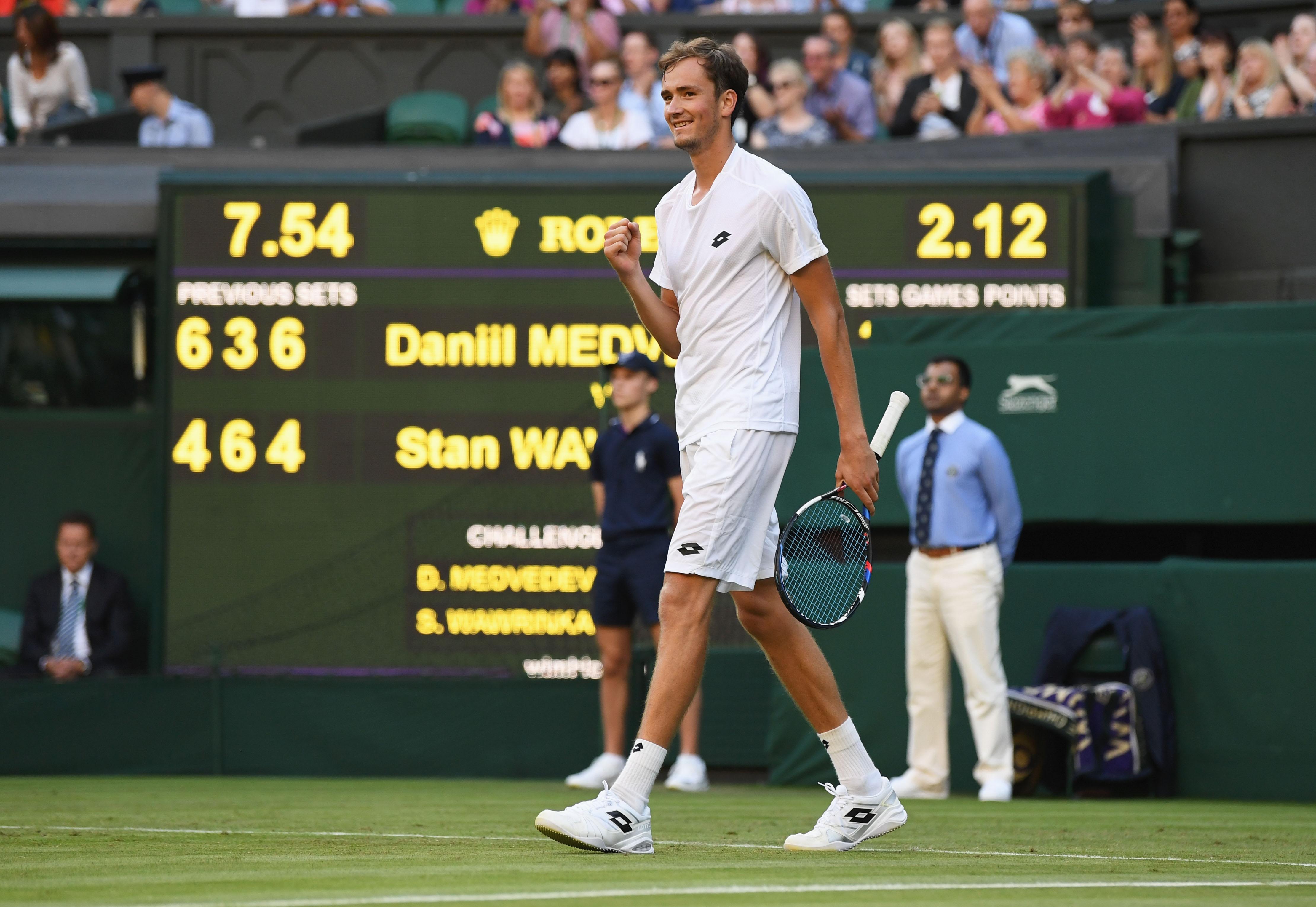 Danil Medvedev gelang die Überraschung des Tages. Der Russe kegelte Stan Wawrinka aus dem Turnier.