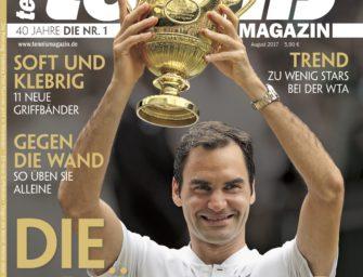 tennis magazin 8/2017: Die Krönung – Federers 8. Sieg in Wimbledon