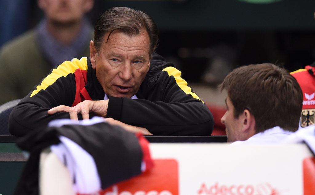 Früherer Davis Cup Coach mit seinem Kapitän Michael Kohlmann
