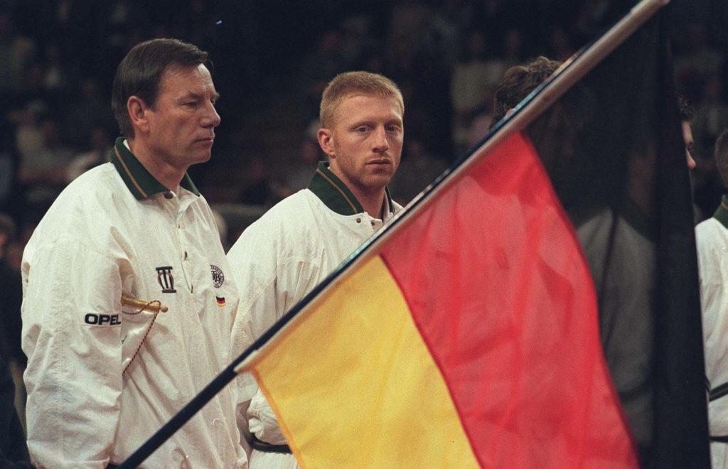 Niki Pilic mit Boris Becker 1996