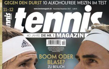 tennis magazin 11-12/2017: Alt vs. Jung – der spannende Kampf der Generationen