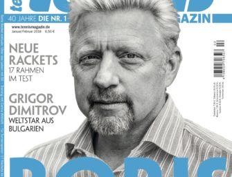 tennis Magazin 1-2/2018: Boris Becker exklusiv